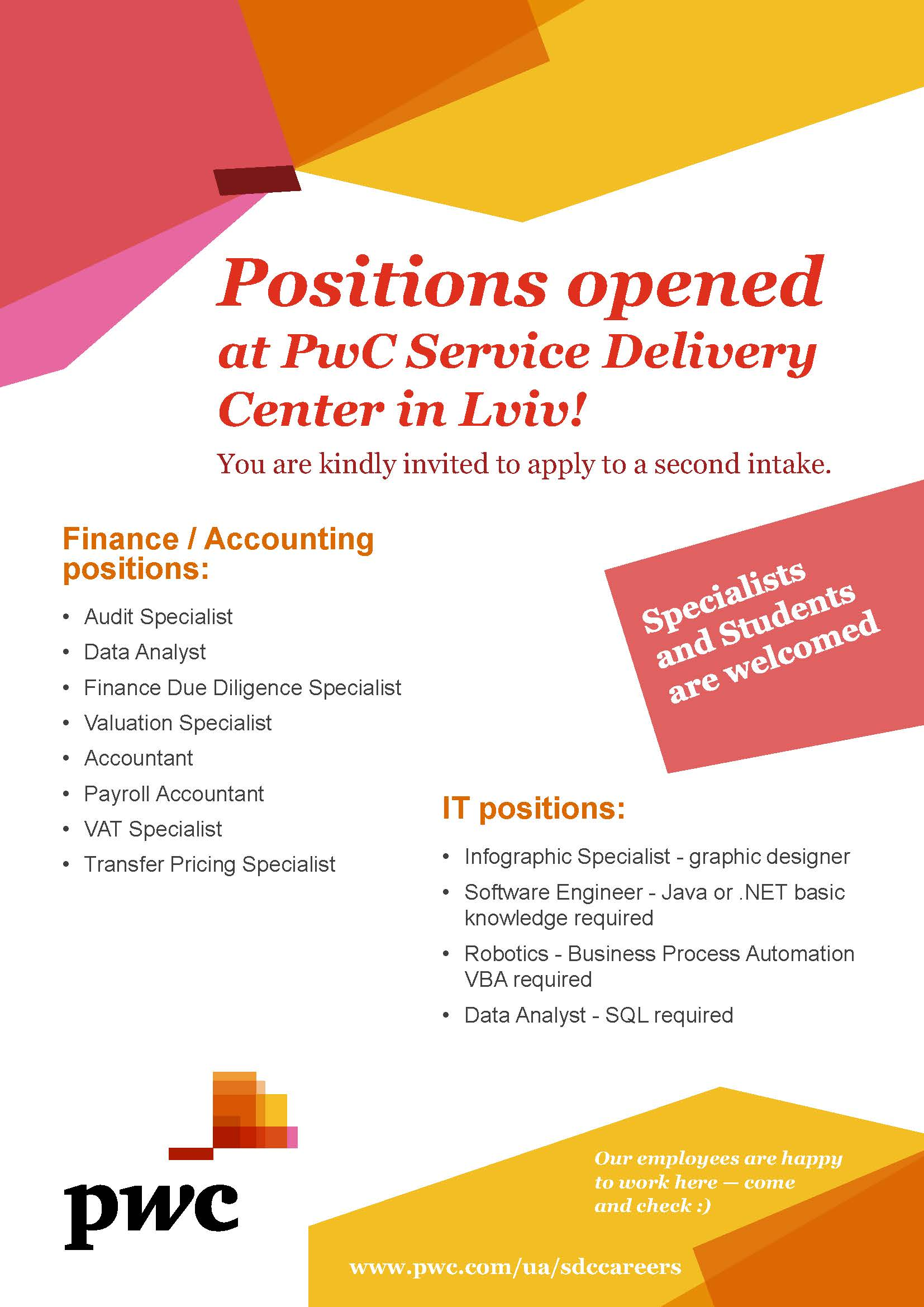 Positions opened at PwC Service Delivery Center PRINT (3) (2)